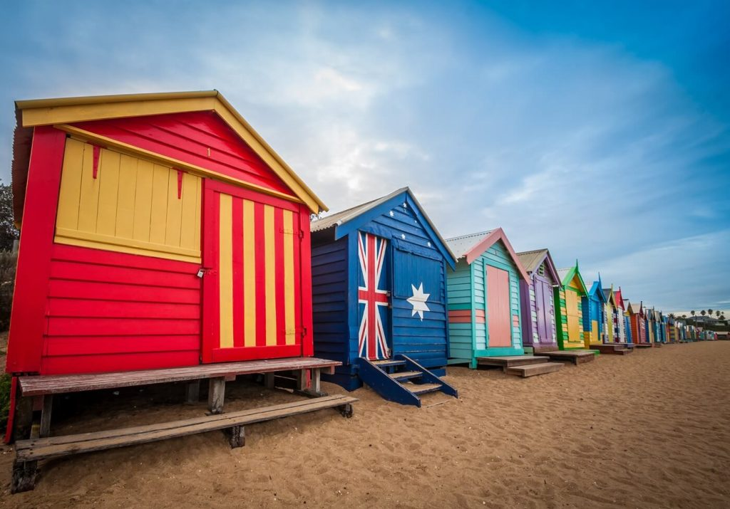 Melbourne Beach bathing boxes