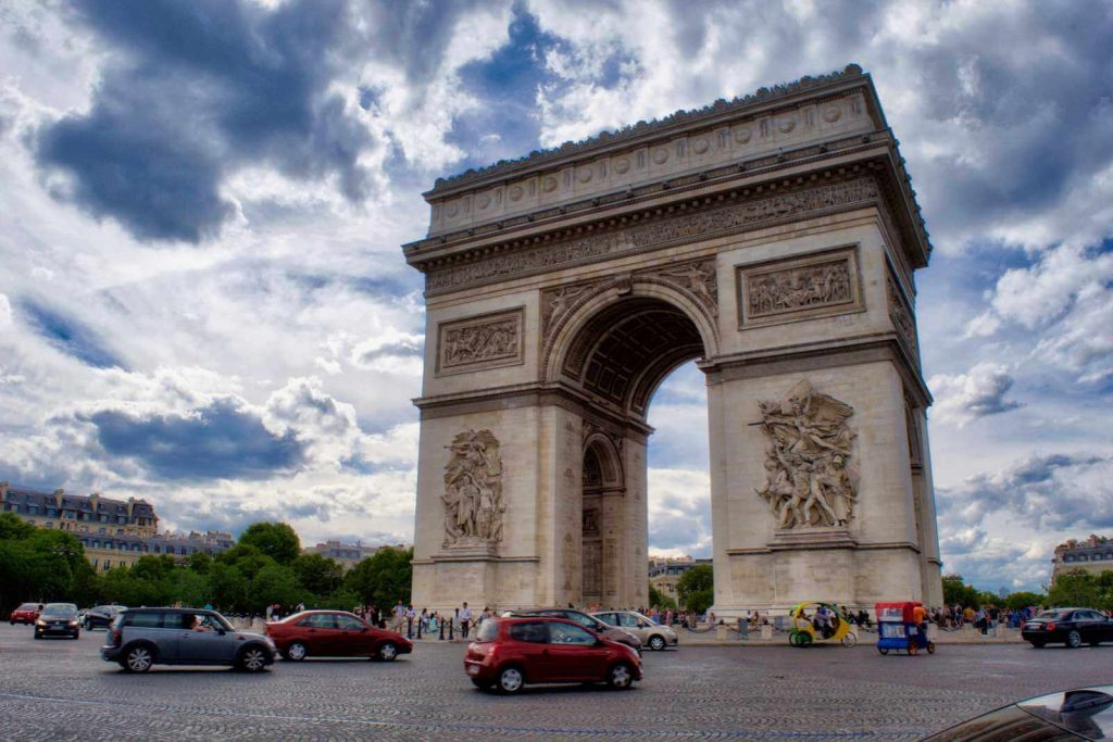 Arc de Triomphe and the Champs-Elysées