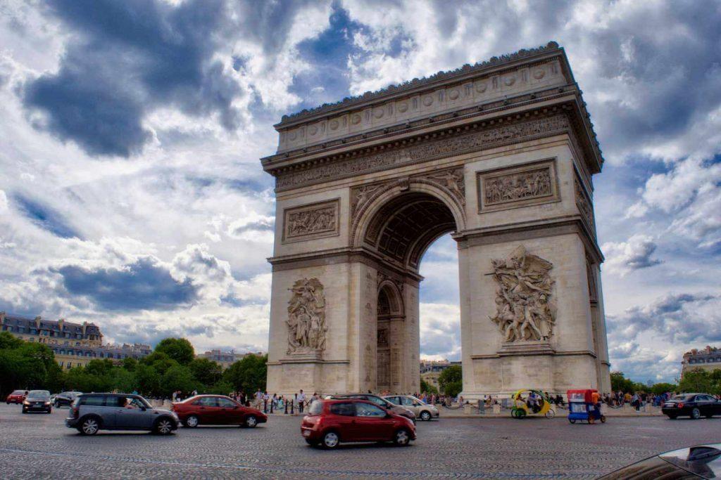 Arc de Triomphe and the Champs-Elysées
