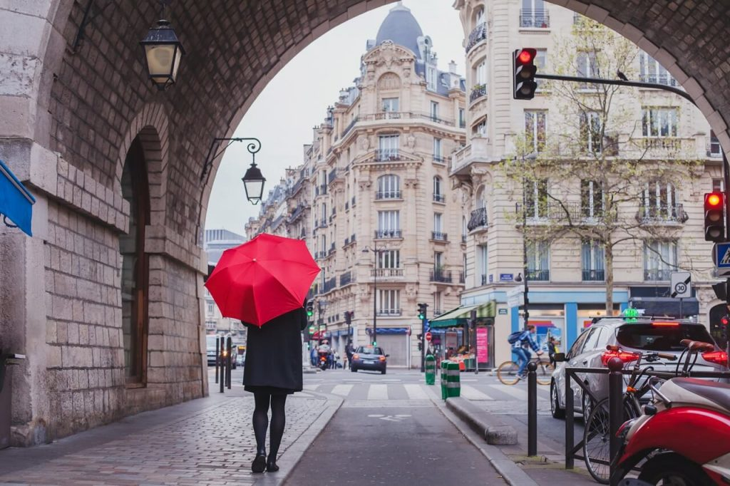 Woman in Paris, France