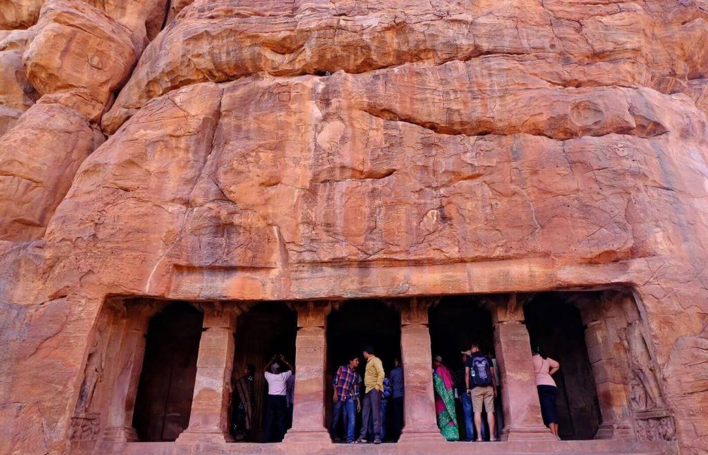Badami Cave Temples -- cave 2 entrance