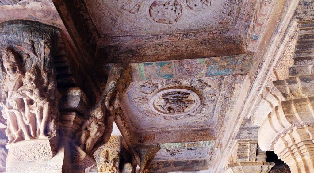 Badami Cave Temples -- cave 3 ceiling