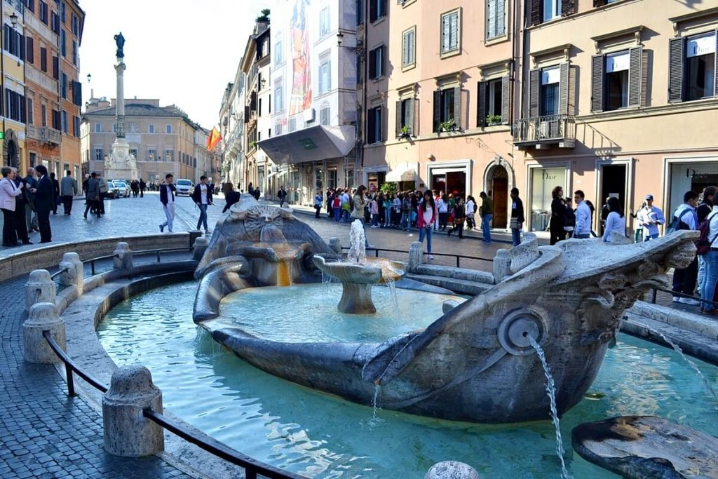 Boat Fountain -- Spanish Steps, Rome, Italy