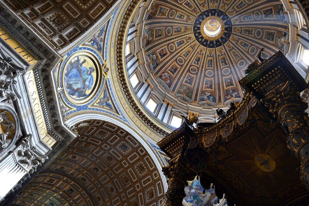 Dome inside St. Peter's Basilica