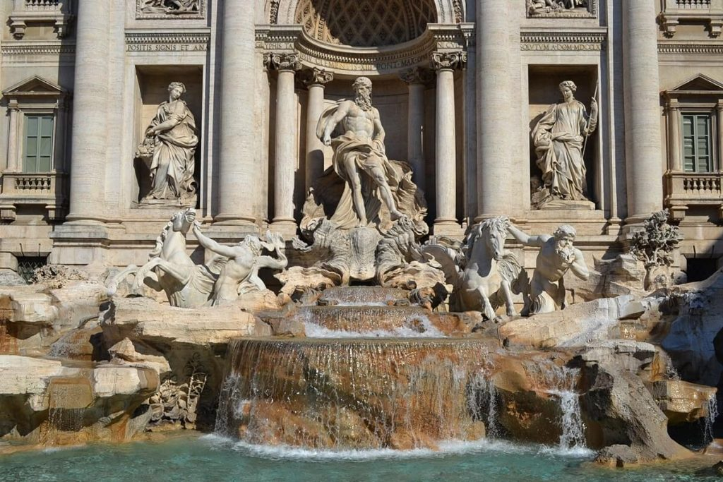 The Fontana di Trevi in Rome.
