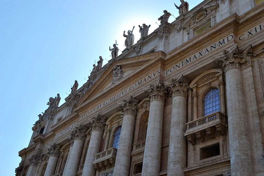 Solo Travel Tips Rome -- Facade of St. Peter's Basilica