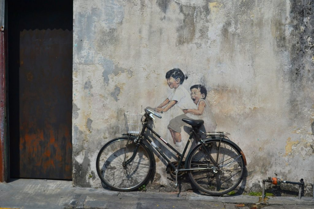 Ernest Zacharevic 3D street art in George Town
