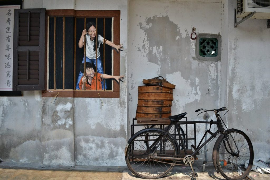 Penang attractions -- street art