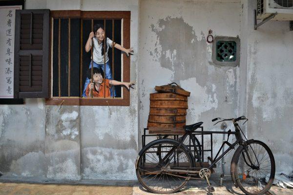 Penang attractions -- street art