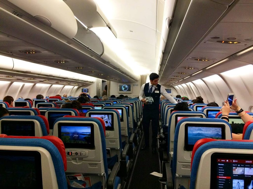Choose your seat on a long haul flight