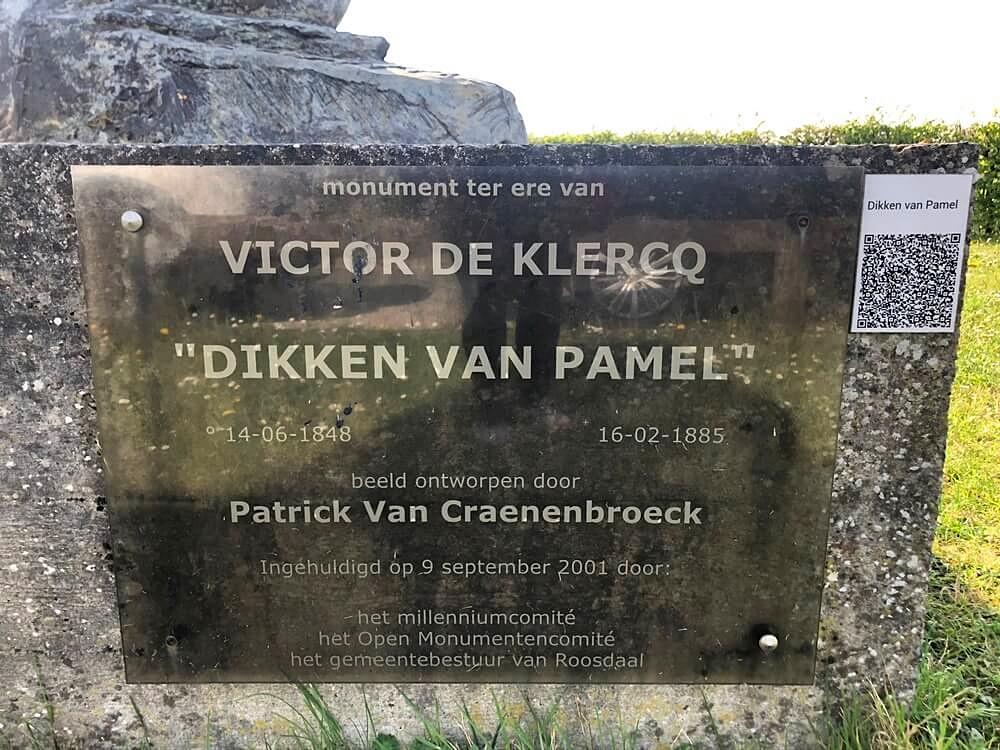 Dikke van Pamel plaque
