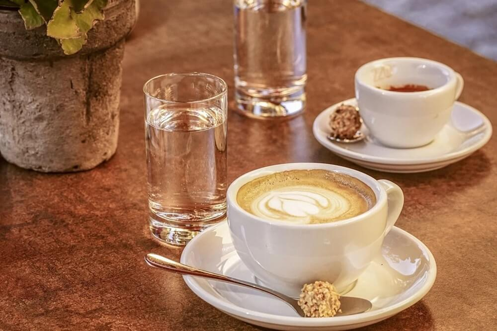 Drink cappuccino in Rome, Italy